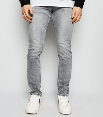Grey Slim Stretch Jeans