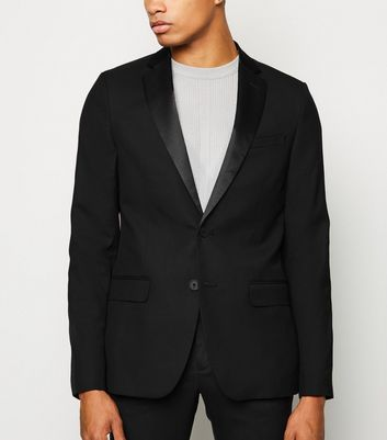 Black Side Stripe Suit Jacket
