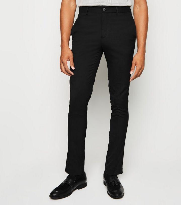 5cf89bee0c38 Black Side Stripe Skinny Trousers   New Look
