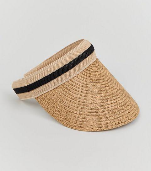 ... Tan Straw Effect Visor Hat ... 0af7bd46a114