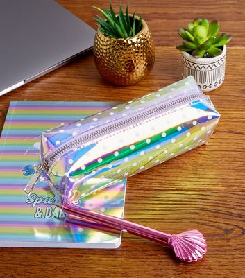 Holographic Spot Print Pencil Case