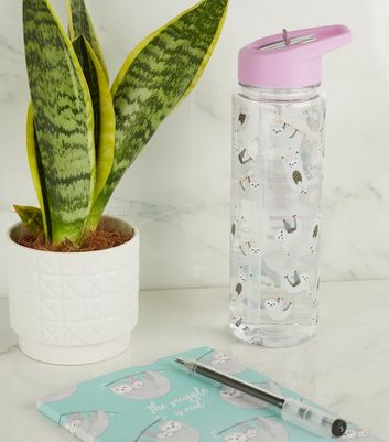 Lilac Sloth Life Flip Straw 700ml Water Bottle