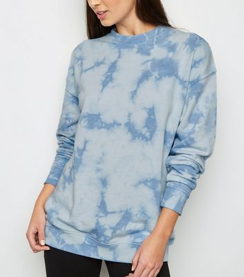 Blue Tie Dye Oversized Sweatshirt