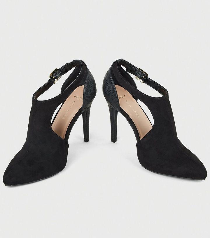 f2150b29d58 ... Wide Fit Black Suedette Cut Out Shoe Boots. ×. ×. ×. Shop the look