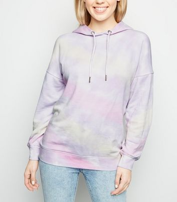 Multicoloured Tie Dye Oversized Hoodie
