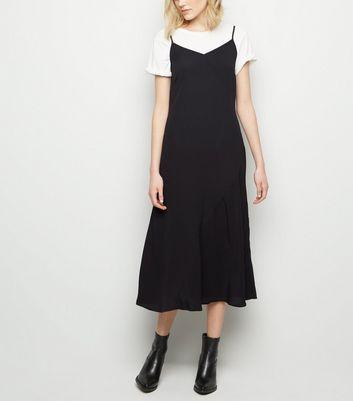 259fc2b743a black-bias-cut-midi-slip-dress by new-look