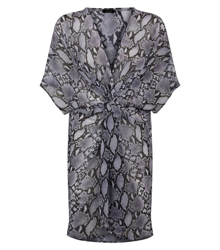 2721b2cdafb ... Beach Cover-Ups · Light Grey Snake Print Twist Front Beach Kaftan. ×.  ×. ×. Shop the look