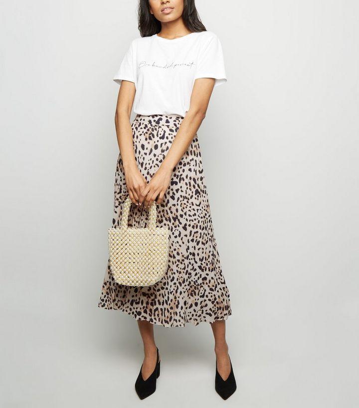 bfe131cb9b Petite Brown Leopard Print Pleated Midi Skirt | New Look