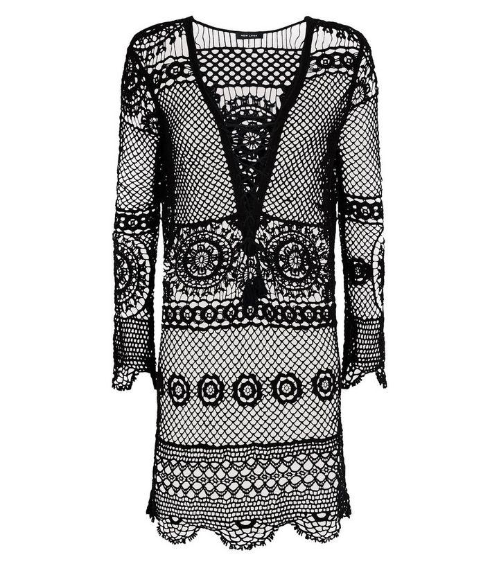 4b2be3fb86 ... Black Crochet Lace Up Beach Kaftan. ×. ×. ×. Shop the look