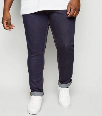 Plus Size – Marineblaue Stretch Skinny Jeans mit Rinse-Waschung