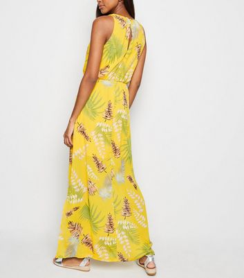 Mela Yellow Tropical Maxi Dress New Look