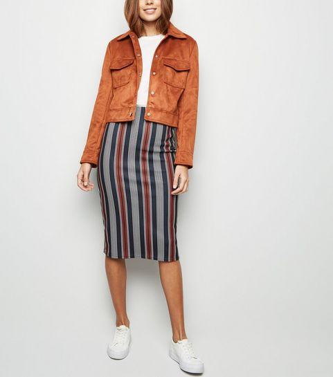 Womens Pencil Skirts Denim Midi Pencil Skirts New Look