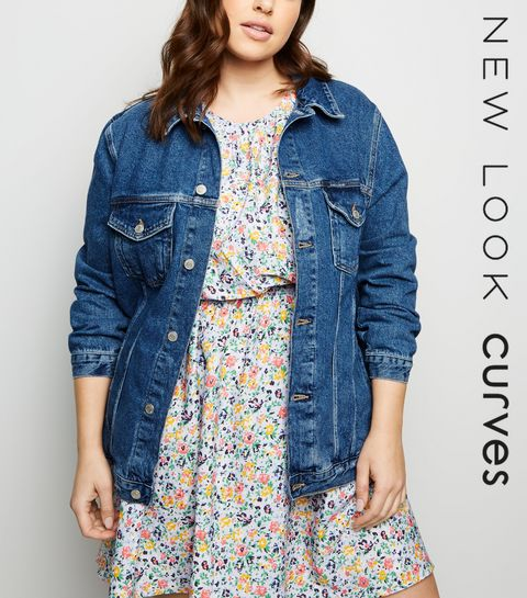 3aac1d4c2ca ... Curves Mid Blue Denim Jacket ...