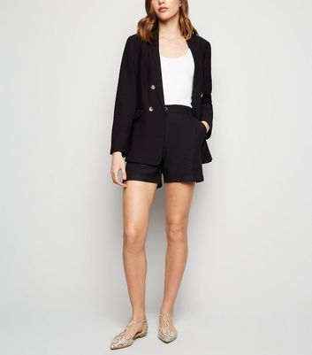 Black Twill Shorts by New Look
