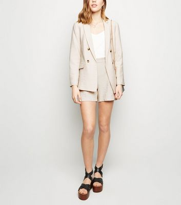 Stone Twill Shorts by New Look