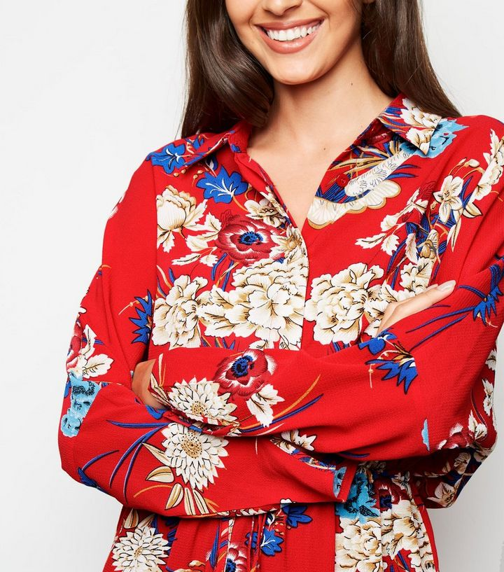 f6a628269faa ... AX Paris Red Floral Batwing Sleeve Dress. ×. ×. ×. Shop the look