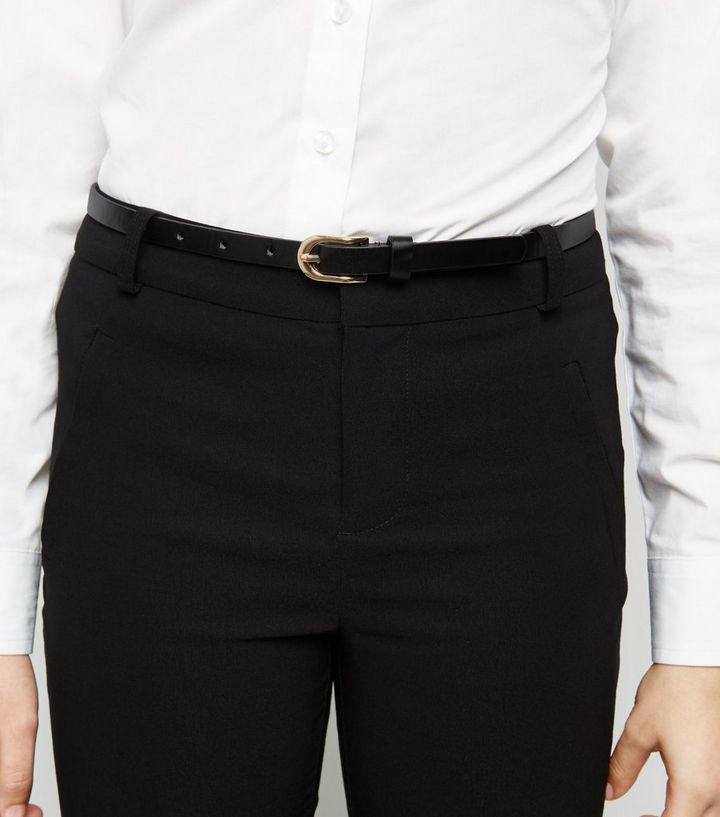 485b323f94fa ... Girls Black Belted Super Skinny Trousers. ×. ×. ×. Shop the look