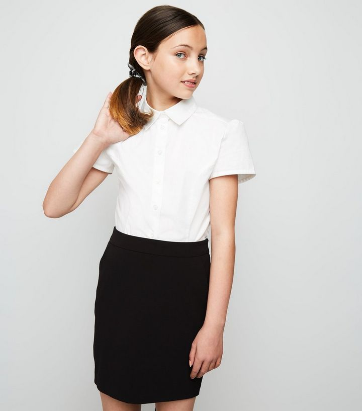 10fada7ee1 Girls Black Zip Back Skirt | New Look