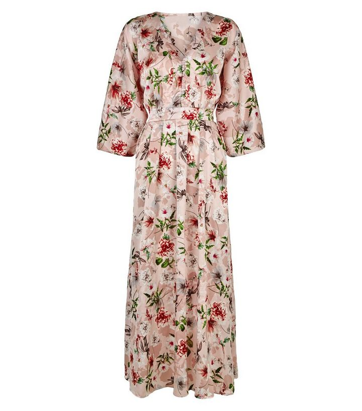 917012552 ... Blue Vanilla Pink Floral Button Kimono Maxi Dress. ×. ×. ×. Shop the  look