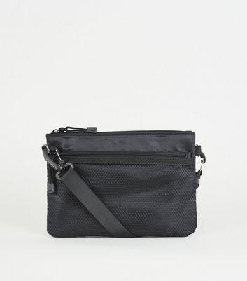 Black Mesh Pocket Cross Body Bag by New Look