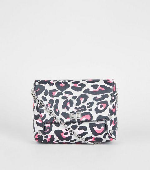 ... Light Grey Leopard Print Cross Body Bag ... 4e4107880347b