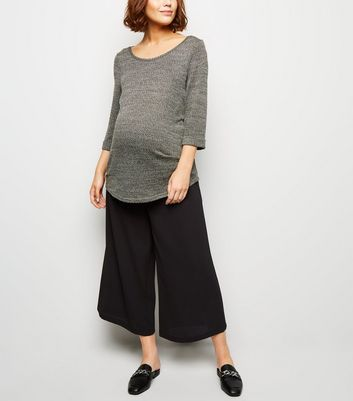 Maternity Black Over Bump Culottes
