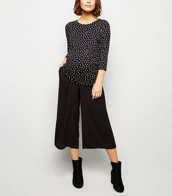 Maternity Black Culottes