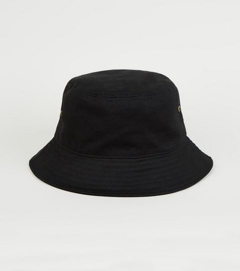 ... Black Eyelet Side Bucket Hat ... 542ec926c