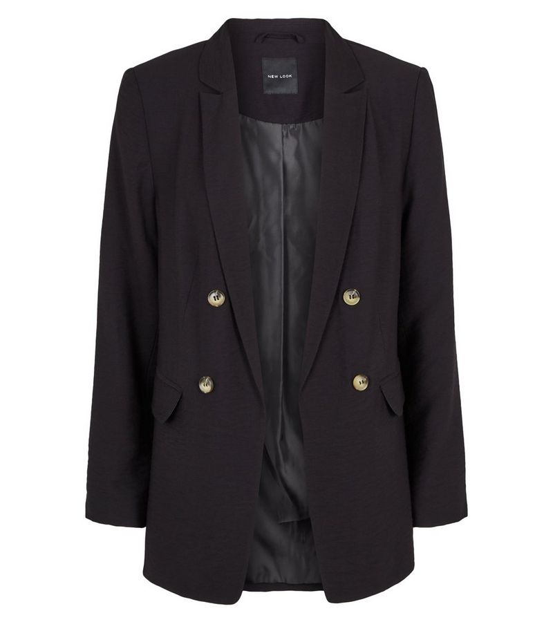New Look - twill double breasted blazer - 4
