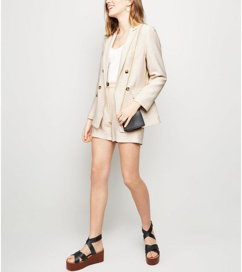 New Look - twill double breasted blazer - 5