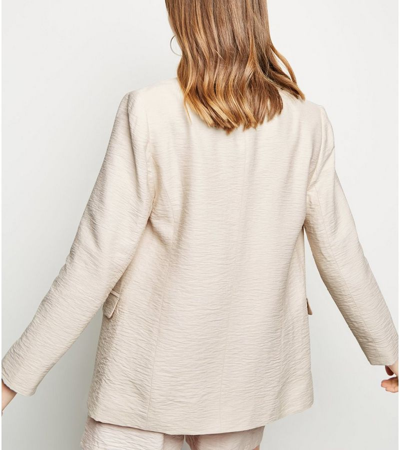 New Look - twill double breasted blazer - 3