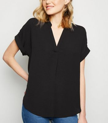 Black Collared Overhead Shirt