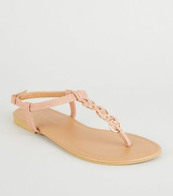 Wide Fit Nude Faux Snake Sandals