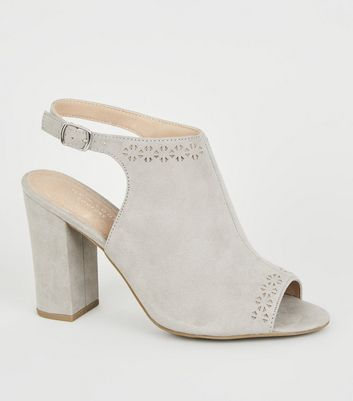 Grey Comfort Flex Laser Cut Heels
