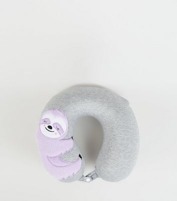 Dark Grey Marl Sloth Neck Travel Pillow