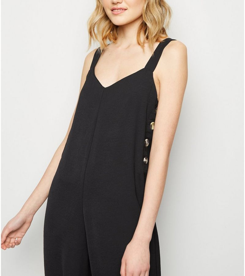 New Look - button side cropped jumpsuit - 4