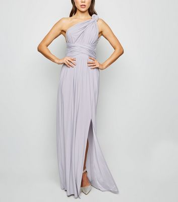 Pale Blue Multiway Side Split Maxi Dress