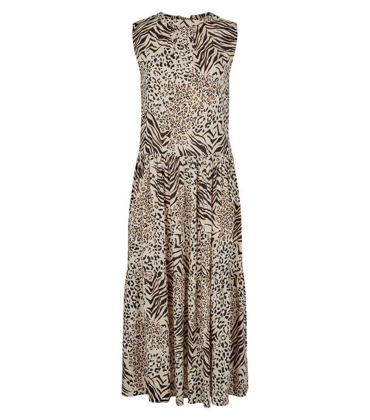 21233c921f76c1 ... Brown Animal Print Tiered Smock Dress. ×. ×. ×. Shop the look