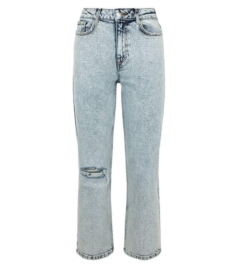 New Look - acid wash straight leg harlow jeans - 2