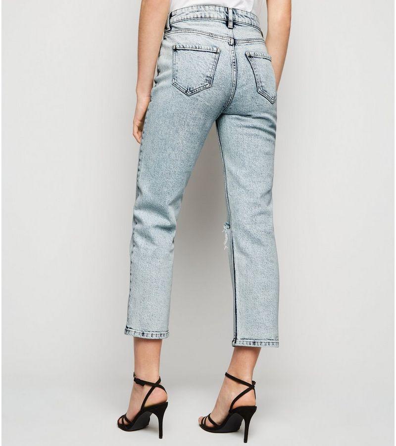 New Look - acid wash straight leg harlow jeans - 5