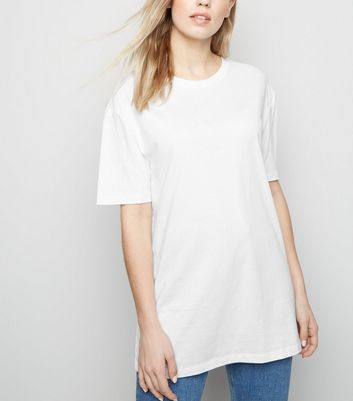White Oversized Crew T-Shirt