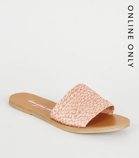 9bfd3eb421c7 Coral Woven Strap Sliders · Coral Woven Strap Sliders ...