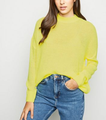 Yellow Knitted Long Sleeve Jumper