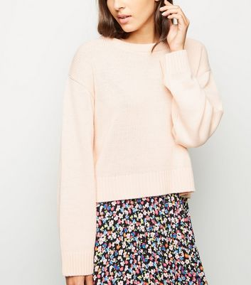 Pale Pink Crew Neck Jumper