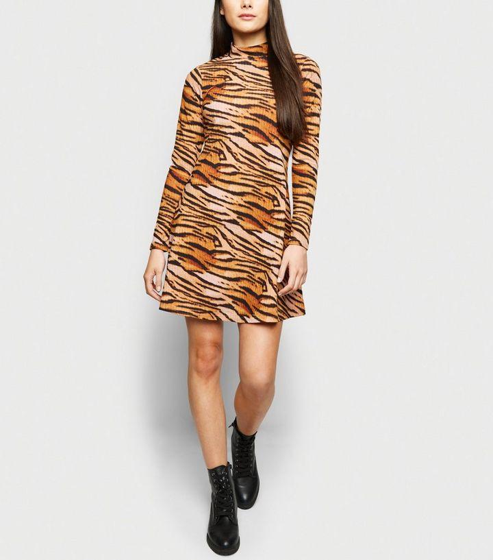 a17fc594a684 ... Pink Tiger Ribbed Turtleneck Midi Dress. ×. ×. ×. Shop the look
