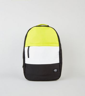 Yellow Neon Stripe Backpack