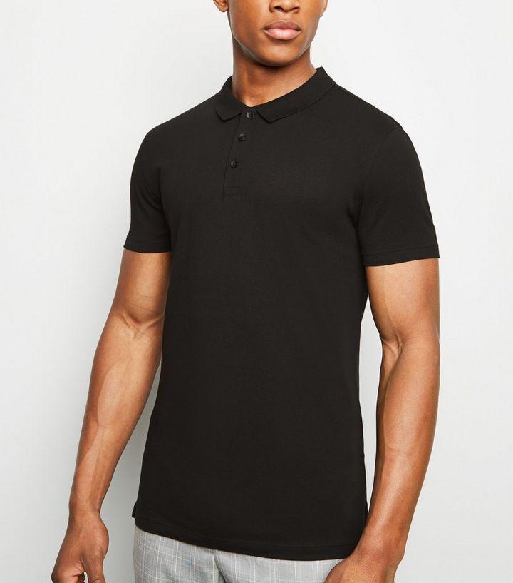 viele modisch begehrte Auswahl an Sonderrabatt Schwarzes Poloshirt mit Muscle-Fit Für später speichern Von gespeicherten  Artikeln entfernen