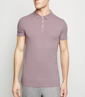 Polo violet clair Muscle Fit