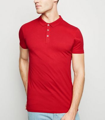 Red Muscle Fit Polo Shirt