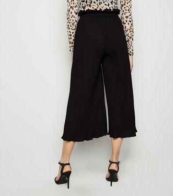 Pink Vanilla Black Pleated Culottes New Look